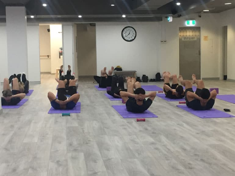 Corporate fitness class in Sydney